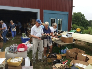 Proving this is a community wide fair, people from other churches volunteer each year such as antique dealer Bill Petry who attends the Congo Church in Blue Hil.  And Jane Birk who is a Catholic and attends St. Joseph's in Ellsworth.