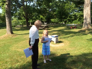 Young Nora takes on a new role as a Junior Usher.  And proved she was more than up the task.