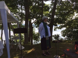 Before the service began Rev. Claudia Wyatt Smith absorbed this beautiful spot for the service.